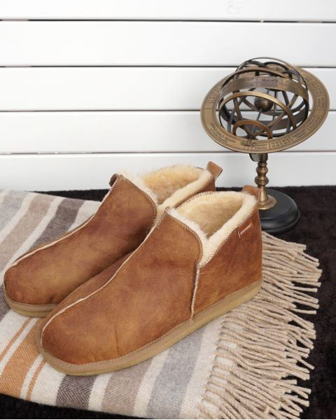 Mens Sheepskin Boot Style Slipper - Anton Footwear