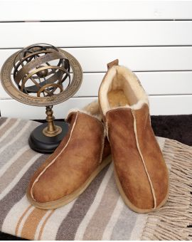Mens Sheepskin Boot Style Slipper - Anton