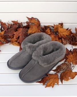 Camilla Sheepskin Bootee Slippers - Graphite Footwear