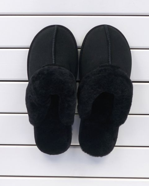 Black Sheepskin Mule Slippers - Kim Mule Slippers
