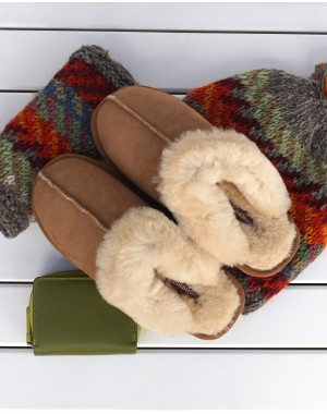 Sheepskin Mule Slippers - Jessica Footwear