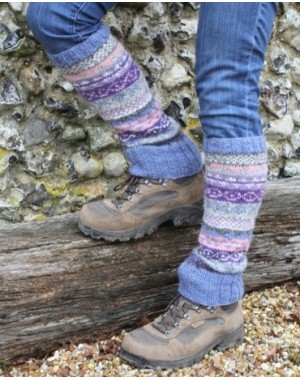 Wool Leg Warmers - Jacaranda Slipper Socks