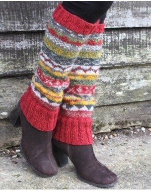Wool Leg Warmers - Rust Slipper Socks