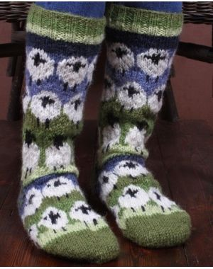 Flock of Sheep Long Socks Footwear