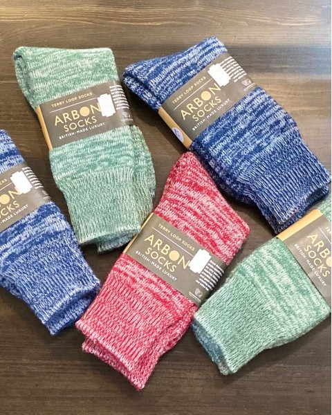 Alpaca Terry Loop Walking Socks Mens