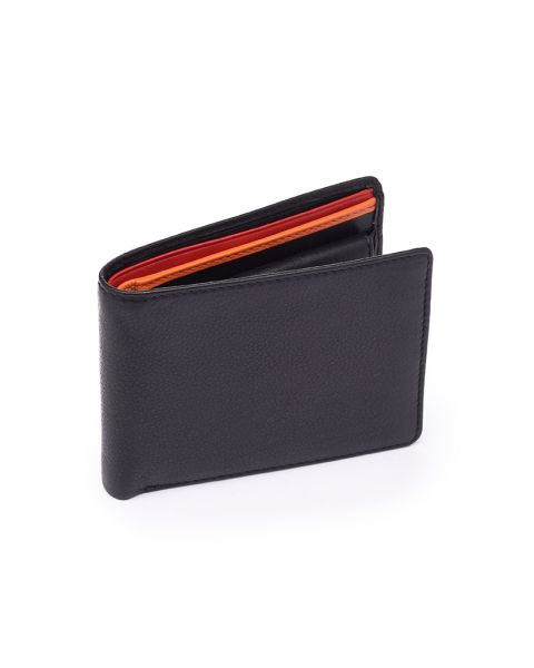 Red Trim Leather wallet - Bond Wallets
