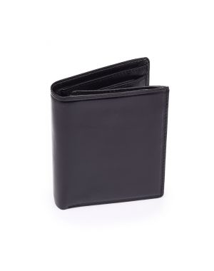 Black Leather Wallet - Milan Wallets