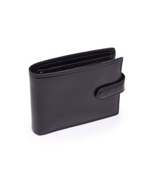 Black leather Wallet - Rome Wallets
