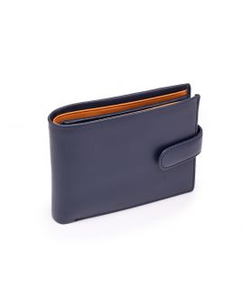 Blue Leather Wallet - Vincent Wallets