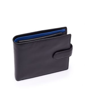 Black Leather Wallet - Leonardo Wallets