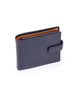 Blue Leather Wallet - Leonardo Wallets