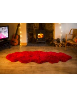 Double Sheepskin Rug - Red Sheepskin Rugs