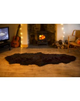 Double Sheepskin Rug - Brown