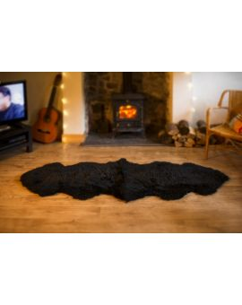 Double Sheepskin Rug - Black Sheepskin Rugs
