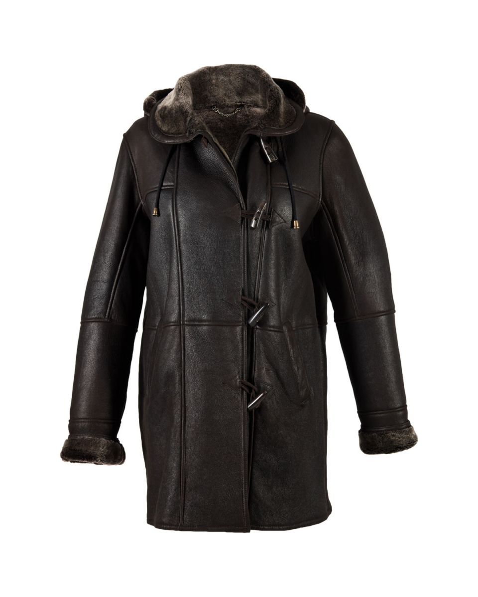 Snow Tip Sheepskin Duffle Coat