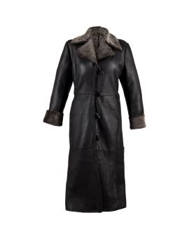 Ladies Long Sheepskin Coat