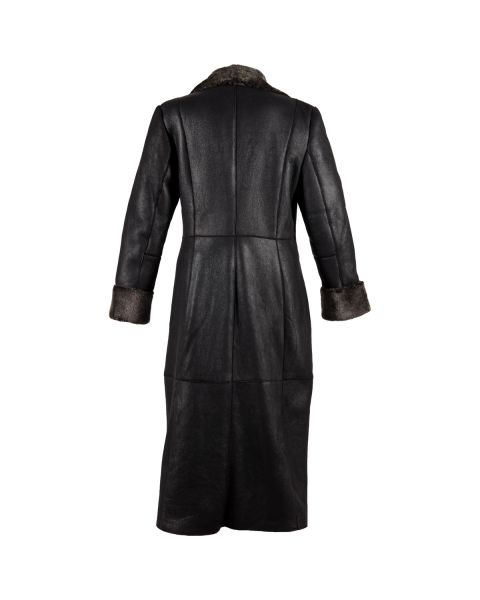 Ladies Long Sheepskin Coat Coats