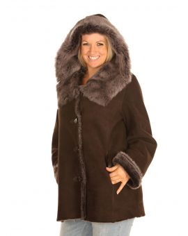 Toscana Trim Sheepskin Coat Coats